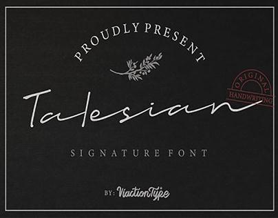 TALESIAN SIGNATURE - FREE BOLD FONT
