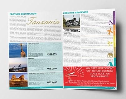 Print design for Ulendo Travel Group