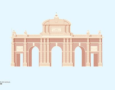 Madrid illustrations