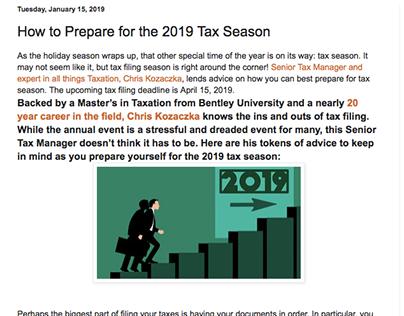 How to Prepare for the 2019 Tax Season - Chris Kozaczka