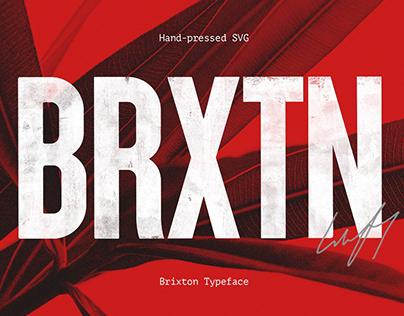 Brixton SVG - Handprinted Typefamily