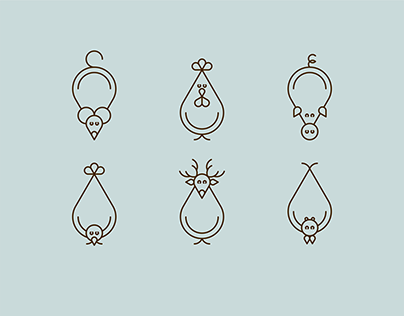 Animal pictograms icons