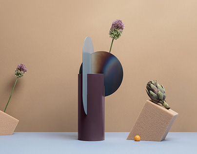 Limited edition vases with burned steel by NOOM