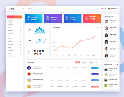 Dany – Modern and Clean Admin Template