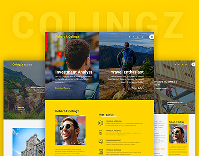 Colingz - Website Template [Free PSD]