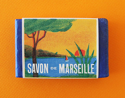 Marseille soap packaging