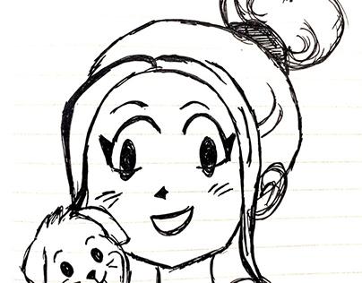 Doodling, drawing