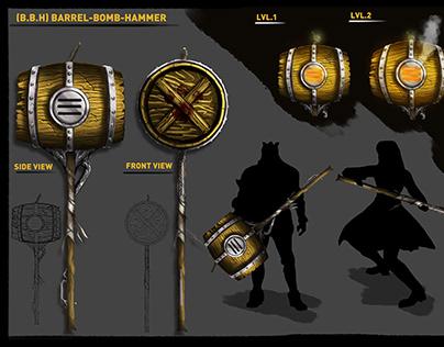 B.B.H - Barrel Bomb Hammer - Monster Hunter World