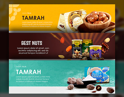 Dry fruit banners design
