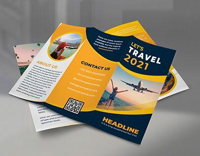 Creative Trifold Travel Brochure Template Design