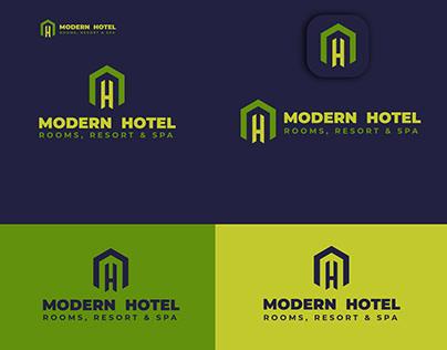 modern hotel logo design/ lettermark logo