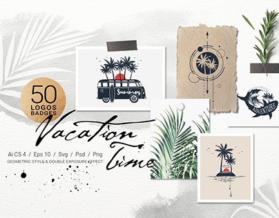 Vacation Time. 50 Logos & Badges