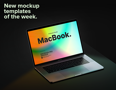 New mockup templates of the week