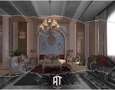 classic design for reception of villa