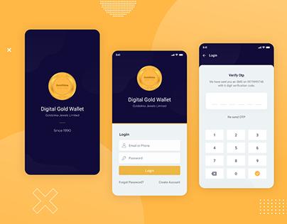 Digital gold wallet - mobile app - login