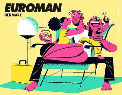 ILLUSTRATION - EUROMAN MAGAZINE (DENMARK)