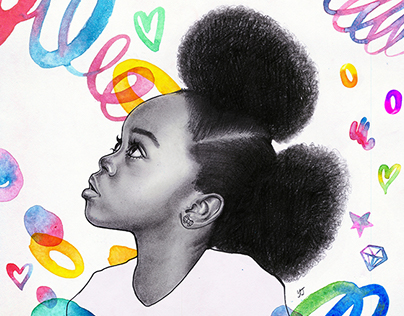 blackgirl - fashion illust