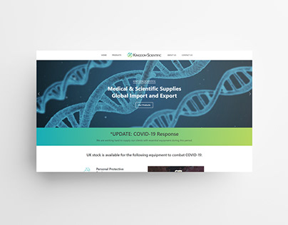 Kingdom Scientific Website Concept