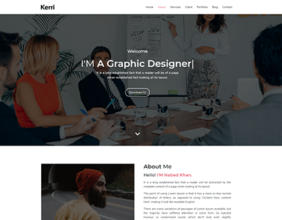 Personal Website Design Using Bootstrap 4