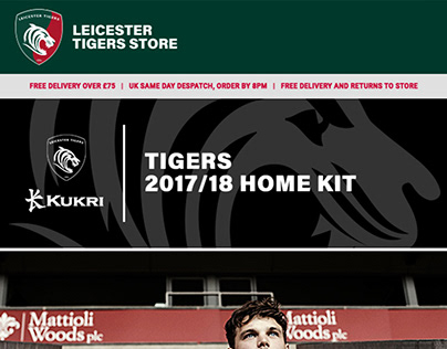 Leicester Tigers New Kit Email Campaign