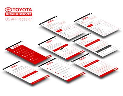 Toyota Financial Services iOS App redesign (concept)