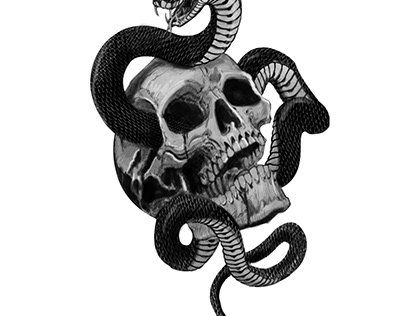 skull and serpent tattoo project