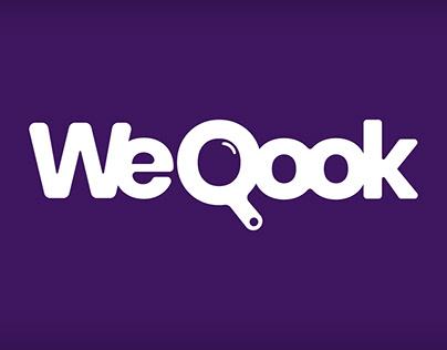 WeQook foods logo concept