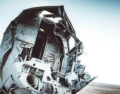 Icelandic Plane Wreck.