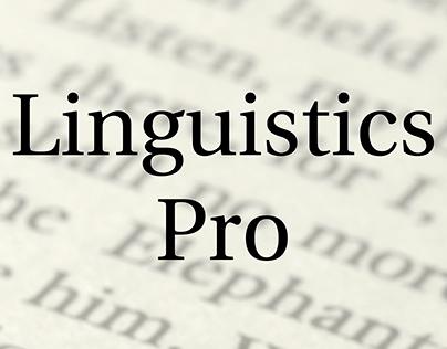 Free Font Linguistics Pro | Шрифт Linguistics Pro