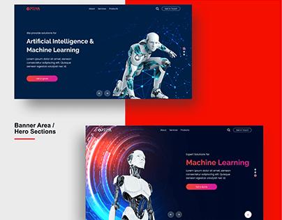 Artificial Intelligence Machine Learning Website Design