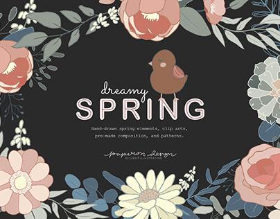 Spring Patterns & Elements