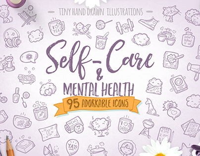 Self-care & Mental Health - Premium Icon Pack
