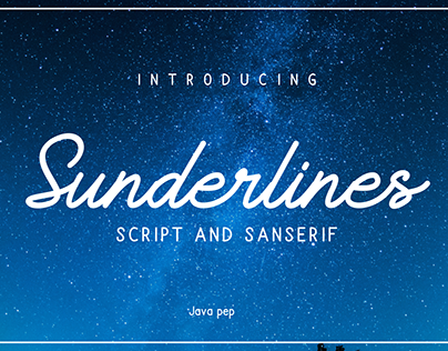 Sunderlines - Duo fonts