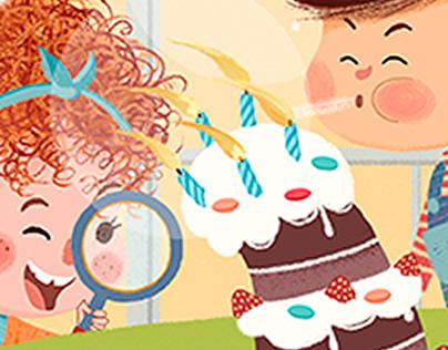 Happy birthday! Digital illustration