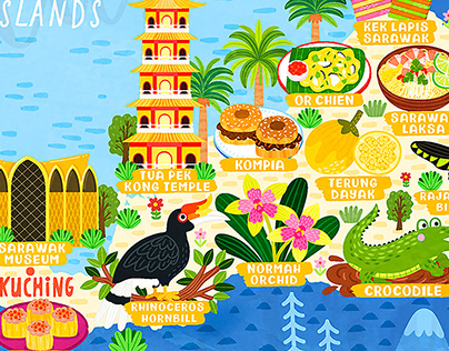 Map of Malaysia Illustration and Design