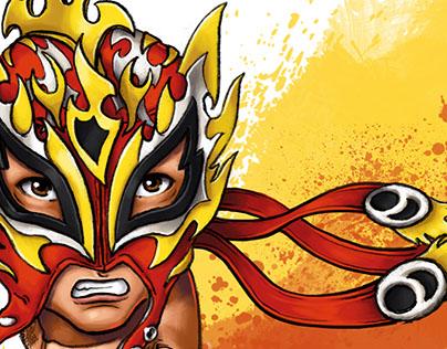 Fenix (Rey Fenix) Luchador Fan Art