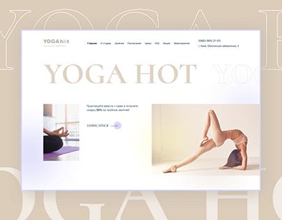 Website redesign for a yoga studio