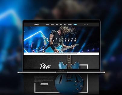 Bateaux Guitars Web Design