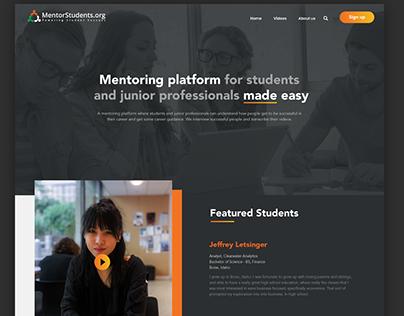 Web App mentoring platform for students & professionals