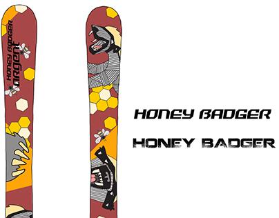 Honey Badger Ski Design for Argent Skis