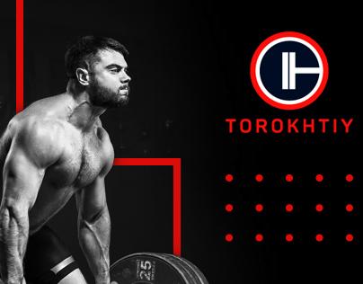 Landing page for the olympic champion Aleksey Torokhtiy