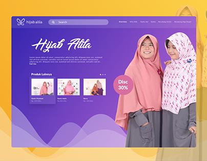Redesign Hijab Alila Header Website