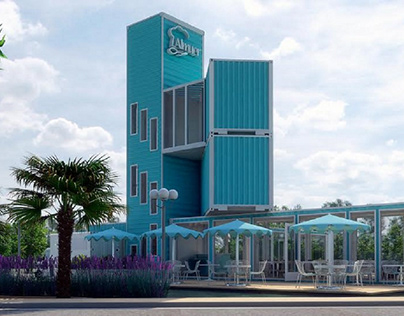 Restaurante turístico sistema de containers