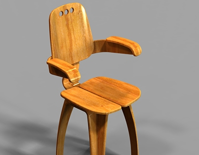 Progressive product line based on a wooden stool