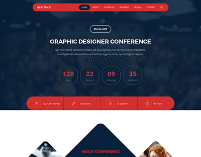 INVITING – Event & Conference PSD Template