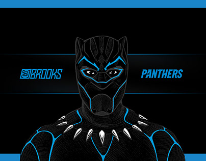 Carolina Black Panther Illustration