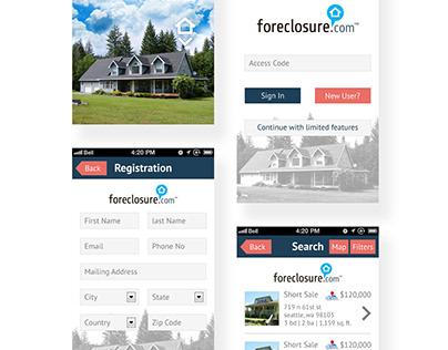 foreclosure App UI Design Idea