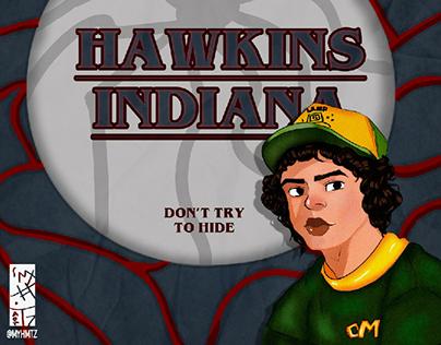 Ilustração do Dustin