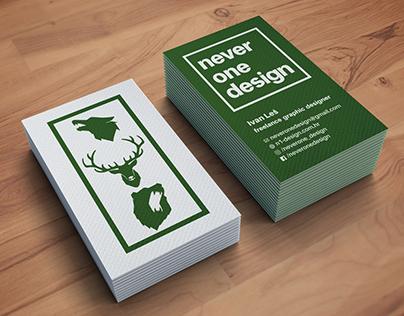 neverone design business card