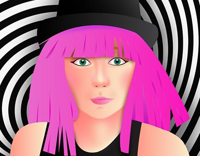 Spiral Girl Illustration